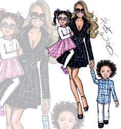 Hayden Williams Fashion Illustrations | Mariah + Roc & Roe by Hayden Williams