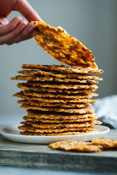 Asiago Seed and Cheese Crisps is part of Cheese crisps - Toasted pepitas, quinoa, and sesame seeds all tangled up with crispy burnt cheese into gloriously addicting crackers Eat as a snack or on top of a salad! Lunch Snacks, Savory Snacks, Healthy Snacks, Low Carb Recipes, Vegetarian Recipes, Cooking Recipes, Healthy Recipes, Cheese Crisps, Asiago Cheese