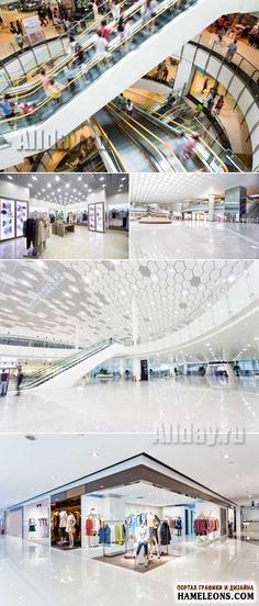Торговый центр, интерьер - Растровый клипарт   Shoppingmall