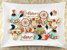 boho chic tribal cookie platter