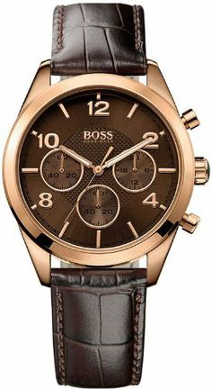 Hugo Boss Rose Gold Leather Chronograph Ladies Watch 1502311 >> $209.99 << | Your #1 Source for Watches and Accessories