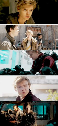 Thomas Brodie-Sangster in the 'Maze Runner: The Death Cure' trailer. . . . I'm dying. He is so hottt!