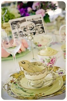 Afternoon tea.    Table settings and styling for the Midland Hotel, Morecambe.