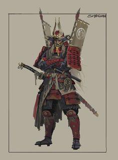 ArtStation - The Shogunate Character Design, Dan Cha Fantasy Samurai, Samurai Concept, Fantasy Warrior, Medieval Fantasy, Fantasy Art, Fantasy Character Design, Character Concept, Character Art, Concept Art