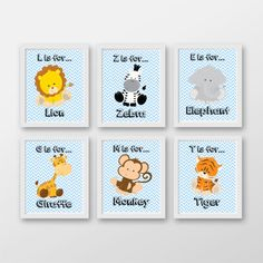 Baby Boy Nursery Art Jungle Nursery Prints by PerfectLittlePrints