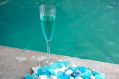 Cocktails by the Bay – Forever Blue   entertaining by the bay #recipe champagne cocktail