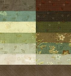 Taupe Fabrics · Quilting Foxes
