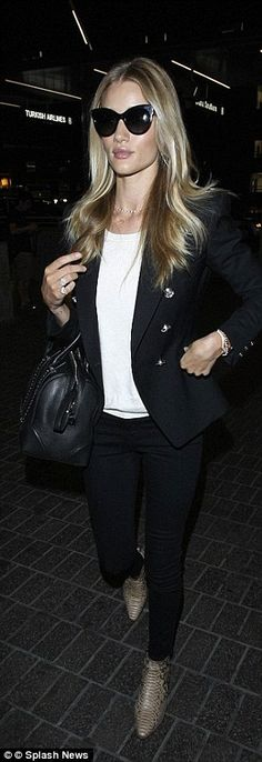 Rosie Huntington Whiteley, right, has perfected that off-duty model style