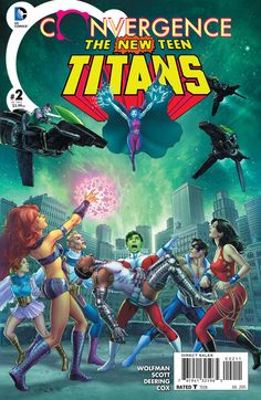 STARRING HEROES FROM CRISIS ON INFINITE EARTHS! Titans Together - no more, when they face the nmight of the Tangent Doom Patrol! Is this the end of what many consider the greatest Titans team in the h