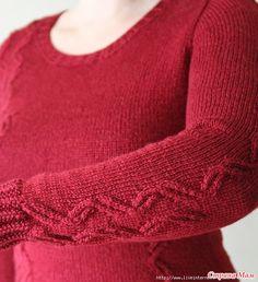 Сама не вязала и не пробовала Автор: irr-saukh (Ирина). Расскажу о любимом, и не только мной, методе вязания рукава – сверху, от проймы, по кругу. Уверяю вас, это несложно! Knitting Patterns Free, Free Knitting, Knitting Sweaters, Drops Design, Master Class, Men Sweater, Turtle Neck, Doilies, Fashion