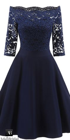 online shopping for Women's Cocktail Dress Vintage Off Shoulder Lace Dress Bridesmaid Formal Swing Dress from top store. See new offer for Women's Cocktail Dress Vintage Off Shoulder Lace Dress Bridesmaid Formal Swing Dress Dresses Elegant, Pretty Dresses, Sexy Dresses, Beautiful Dresses, Vintage Dresses, Evening Dresses, Casual Dresses, Dresses For Work, Summer Dresses