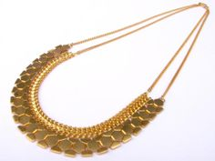 FIRE CLEO NECKACE Gold  A 50cm 24k gold plated by Miryam24K, ₪604.00
