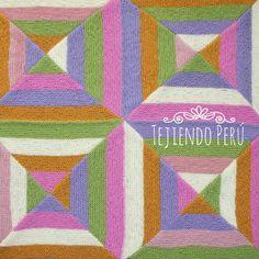 Paso a paso: Cobija para bebés o cubrecama con diseño geométrico tejida en varios colores en dos agujas o palitos! Knitted baby afghan!