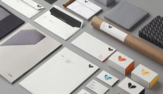 Really nice branding and identity system for Minke , a graphic services provider. Design Brochure, Graphic Design Branding, Stationery Design, Logo Design, Print Design, Corporate Identity, Corporate Design, Visual Identity, Workplace Design