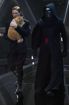 "Supreme Leader Snoke will not be pleased you forgot to clean the litter box"" - General Hux and Millicent from Star Wars Episode VII The Force Awakens"