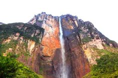 ANGEL FALLS (SALTO ÁNGEL), VENEZUELA - Angel Falls, the highest waterfall on Earth, is 3,230 feet in height with a vertical drop of 2,647 feet.