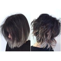 Resultado de imagen de short hair ombre grey