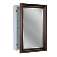allen + roth 22.25-in x 30.25-in Rectangle Surface Aluminum Medicine Cabinet