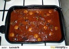 Hovězí dušené v troubě Chili, Beans, Soup, Fish, Vegetables, Chile, Pisces, Vegetable Recipes, Soups