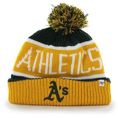 ff9b354ccefd41 Oakland Athletics Beanie Oakland Athletics, Pom Pom Hat, Fan Gear, Team  Logo,