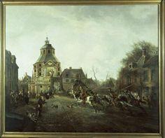 Pieter Gerardus van Os, De aankomst van de kozakken in Utrecht op 28 november 1813, 1816   Centraal Museum Utrecht