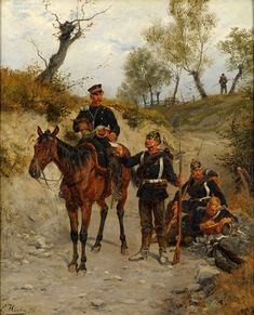 Prussian messenger, Franco-Prussian War