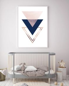 Print Avenue Art Prints and Posters – Print Avenue Designs Copper Ombre, Navy And Copper, Triangle Art, Avenue Design, Geometric Wall Art, Subtle Textures, Living Room Art, Poster Wall, Nursery Wall Art