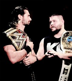 Seth Rollins and Kevin Owens. I Would love these two to become a tag team!