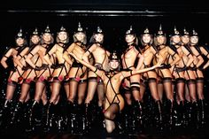 Strippers at Le Crazy Horse cabaret in France
