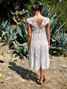 Prism of Threads Handmade Crochet Doily Dress