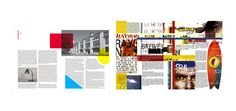 Modern and Postmodern in magazine layouts