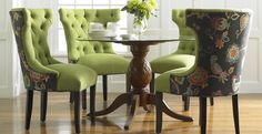 formal dining room with upholstered dining chairs: interesting products  dining room chairs