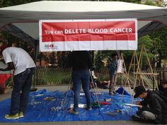 Setting up for the first World Blood Cancer day!