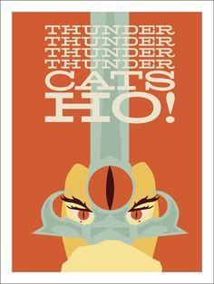 Thundercats. Design inspiration for invitations.