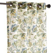 "Glencove Floral Curtain - Blue 120"""