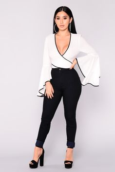 Visions Of Love Bell Sleeve Top – White – Dream Fashion Bell Sleeve Shirt, Bell Sleeves, Bell Sleeve Top, Fashion Outfits, Womens Fashion, Fashion Trends, Fashion Tips, Everyday Fashion, Passion For Fashion