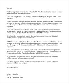 Letter Of Introduction For Resume Business Introduction Letter Template  Intereduced L.2  Pinterest .