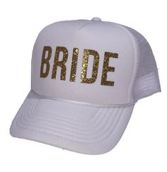 2089c4078c822 Bride Hat Glitter Trucker Cap for Bachelorette Parties