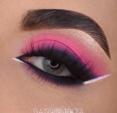 Goth Eye Makeup, Party Eye Makeup, Dope Makeup, Makeup Eye Looks, Eye Makeup Art, Pink Makeup, Eyeshadow Makeup, Dramatic Eyeshadow, Eyeliner