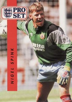 1990-91 Pro Set English League #15 Nigel Spink Front