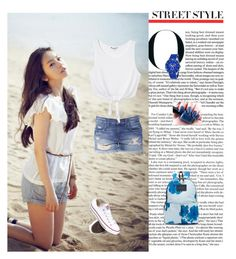 """""""School styl :)"""" by aminahadzic5 ❤ liked on Polyvore featuring Converse, Marc by Marc Jacobs, Lucien Piccard and Monki"""