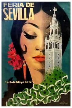 'Seville, Spain, traditional, woman, vintage travel poster' Photographic Print by AmorOmniaVincit Canvas Frame, Canvas Wall Art, Canvas Prints, Orange Show, Sacred Art, Vintage Travel Posters, Retro, Spain, Poster Prints
