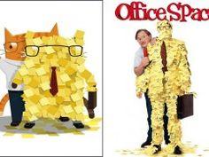 Gatos em releituras de cartazes de filmes clássicos: Office Space