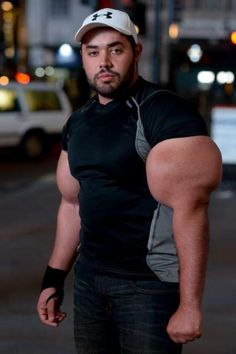 The Guiness Book of Records unveiled a real life Popeye. Moustafa Ismail, 24, has become a record holder gaining the title of the world's largest biceps.