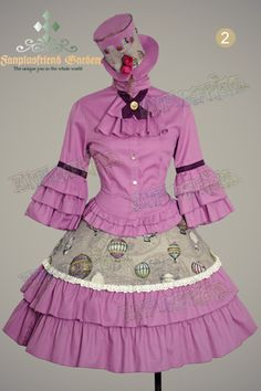 Purple lolita steampunk