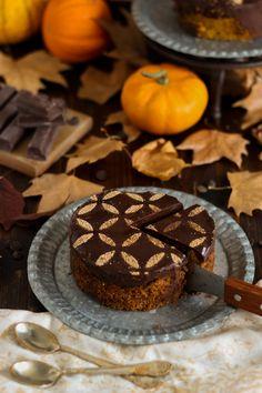 Tarta de calabaza y cheesecake de chocolate | Con aroma de vainilla