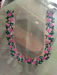 Embroidery Works, Machine Embroidery Designs, Hand Work Blouse Design, Hand Designs, Saree Blouse Designs, Embroidered Blouse, Designers, Blouses, Suits