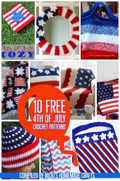 When it comes to 4th of July, patriotic bags, hats and accessories showing of the American Flag are a must have in your free crochet pattern collection. Get all of these amazing patterns right and start preparing and crocheting for the 4th of July Party. #crochet #freecrochet #freecrochetpattern #4thofJuly #patriotic #americanflag #crochet4thofJuly #July4th #red #blue #white #redbluewhite #crochetbag #crochetblanket #crochetwreath #crochetpillow #crochetcozy
