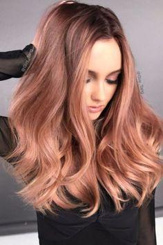 Beautiful Rose Gold Hair Color Ideas 13