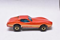 Vintage Hot Wheels Hot Ones Corvette Stingray, Red, Little Red Corvette, 1980, Gold Rims, Hong Kong, Die-cast Toy Car Collection, by RememberWhenToys on Etsy